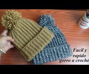 Como hacer un Gorro a crochet para principiantes PASO A PASO