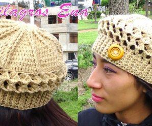CURSO GRATIS DE Como hacer una hermosa Boina a Crochet en Punto Panal de Abeja o nido de Abeja 3D paso a paso