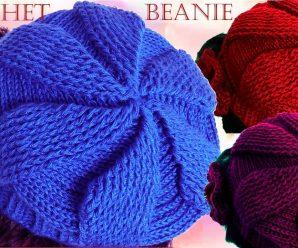 CURSO GRATIS DE Como tejer gorro boina a Crochet o Ganchillo en todas las tallas punto relieve 3D PASO a PASO