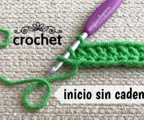 Cómo empezar el tejido a crochet ¡SIN CADENA DE INICIO! Paso a Paso