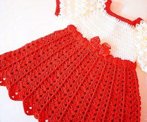 Aprende a tejer tu primer Vestido rojo navideño a crochet NIVEL FACIL