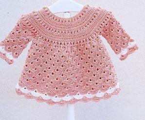 CURSO GRATUITO: Vestido de niña a crochet muy fácil y rápido