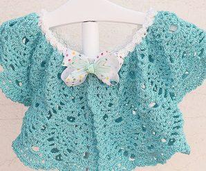Haz tu primer Bolero de piñas a crochet a juego con vestido CURSO FACIL