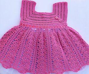 CURSO GRATIS de Vestido niña a crochet muy fácil y rápido