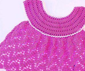 Vestido niña a crochet muy fácil y rápido – MAJOVEL CROCHET