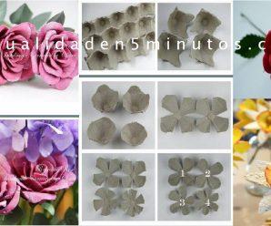 Hacer Flores y Rosas de CARTON DE HUEVO reciclado CURSO ONLINE