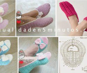 Como hacer Zapatos a Crochet en todas las talllas + Patron VIDEO