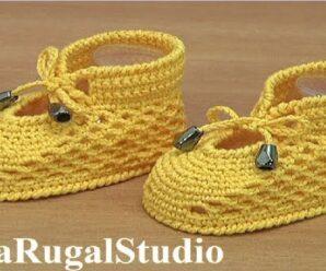 Botitas de bebé de verano a crochet Tutorial
