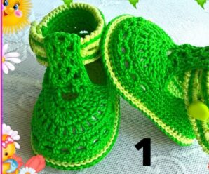 Preciosos Zapatitos para Niña en Crochet Superfacil