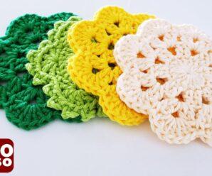 Pequeños copos Tejidos en Crochet Superfacil