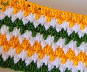 Patrón de tejido de Chaleco o Manta en Zigzag muy hermoso