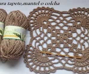Carpeta para mantel a Crochet paso a paso